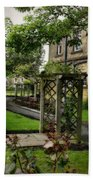 English Country Garden And Mansion - Series IIi. Beach Towel