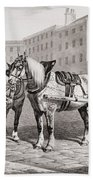 English Farm Horses, 1823 Beach Towel