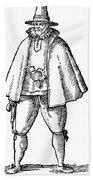English Merchant, 1598 Beach Towel