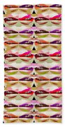 Enjoy Bliss Of Artistic Sensual Aura Lips  Kiss Romance Pattern Digital Graphic Signature   Art  Nav Beach Towel