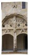 Entrance Fontevraud Abbey- France Beach Sheet