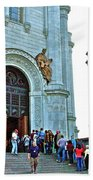 Entrance To Christ The Savior Cathedral In Moscow-russia Beach Towel