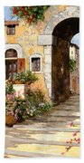 Entrata Al Borgo Beach Towel by Guido Borelli