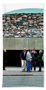 Entry To Church In The Rock In Helsinki-finland Beach Towel