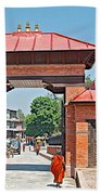 Entry To Pasupatinath Temple Of Cremation Complex In Kathmandu-nepal    Beach Towel