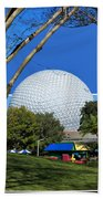 Epcot Globe 02 Beach Towel by Thomas Woolworth