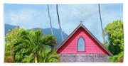 Episcopal Church In Kapaa Beach Towel