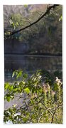 Erie Canal At Bushnell Basin Beach Towel