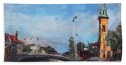 Erie Canal In Lockport Beach Towel