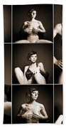 Erotic Beauty Collage 14 Beach Towel