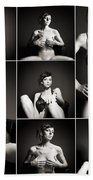 Erotic Beauty Collage 15 Beach Towel