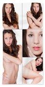 Erotic Beauty Collage 19 Beach Towel