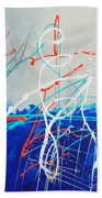 Erupting Blues Beach Towel