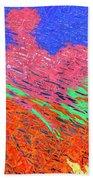 Erupting Lava Meets The Sea Beach Towel by Joseph Baril