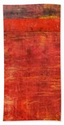 Essence Of Red Beach Towel by Michelle Calkins