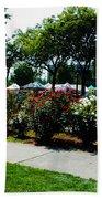 Esther Short Park Rose Gardens Beach Towel