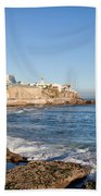 Estoril Coastline In Portugal Beach Towel