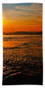 Estuary Sunset  Beach Towel