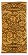 Eternity Mandala Leather Beach Towel