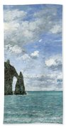Etretat. The Cliff Of Aval Beach Towel
