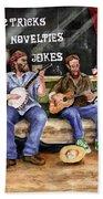 Eureka Springs Novelty Shop String Quartet Beach Towel by Sam Sidders