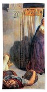 Eve Of Saint Agnes The Flight Of Madelein The Drunkenness Attending The Revelry Beach Towel
