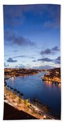 Evening At Douro River In Portugal Beach Towel