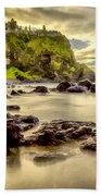 Evening At Dunluce Castle Beach Towel