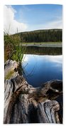 Evening At Red Rock Lake Beach Towel