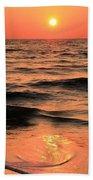 Evening Beach Stroll Beach Sheet
