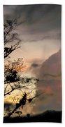Evening Break In Rain Clouds Beach Towel