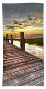 Evening Dock Beach Towel