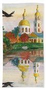 Evening Gong Of The Russian Church Beach Towel
