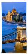 Evening In Budapest Beach Towel