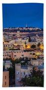 Evening In Jerusalem Beach Towel