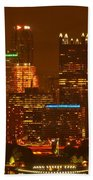 Evening In The City Of Champions Beach Towel
