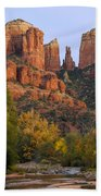 Evening Light On Cathedral Rock Beach Towel