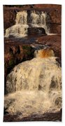 Evening Light Waterfalls Beach Towel