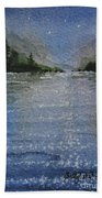 Evening On The Lake Beach Towel
