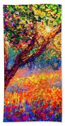 Evening Poppies Beach Towel by Jane Small