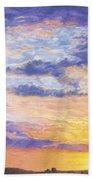Evening Sky Beach Towel