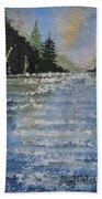 Evergreen Shore Beach Towel