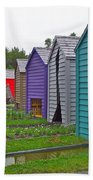 Every Garden Needs A Shed And Lawn Two In Les Jardins De Metis/reford Gardens Near Grand Metis-qc Beach Towel