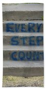 Every Step Counts Beach Towel