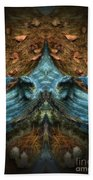 Evil Autumn Tree Roots Beach Towel