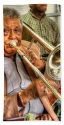 Excelsior Band Horn Player Beach Towel