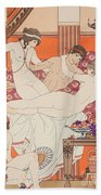Excess Of Wine And Women Beach Towel by Joseph Kuhn-Regnier