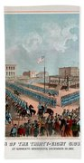 Execution Of The Thirty Eight Sioux Indians Beach Towel