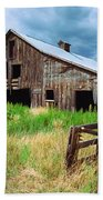 Exit 166 Barn Beach Towel