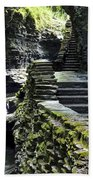 Exiting Watkins Glen Gorge Beach Towel by Frozen in Time Fine Art Photography